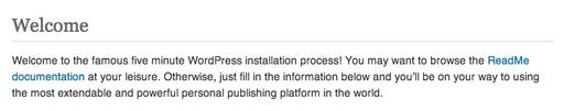 WordPress-five-minutes-install