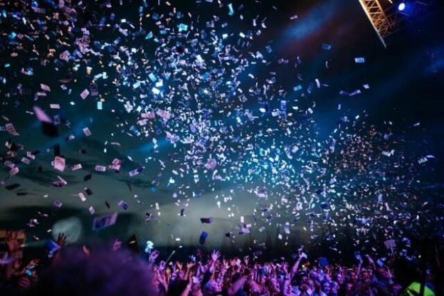 confetti on a party