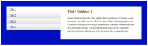 De tabs plugin op een breed scherm: lijst en content staan naast elkaar