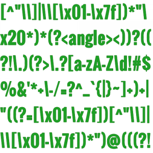 regular expression of regex