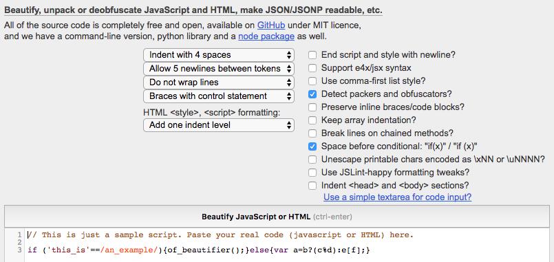 Did js-beautify break the internet? - PLint-talk