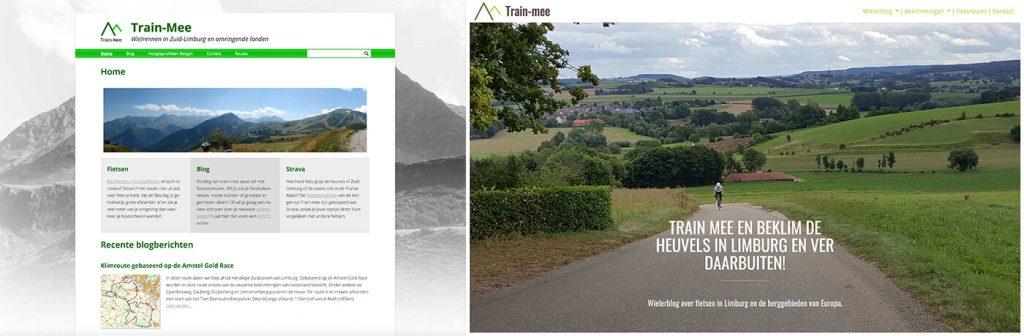Website train-mee old vs new